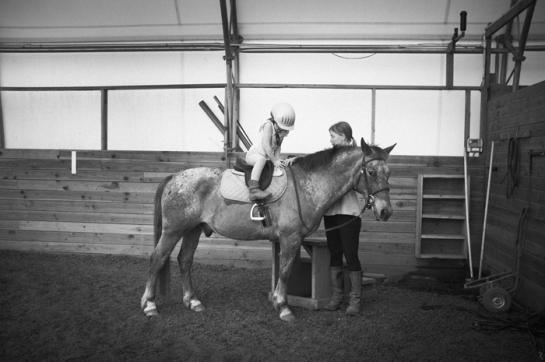 Girl on a pony