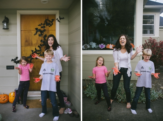 Kids and girl halloween crafts front porch