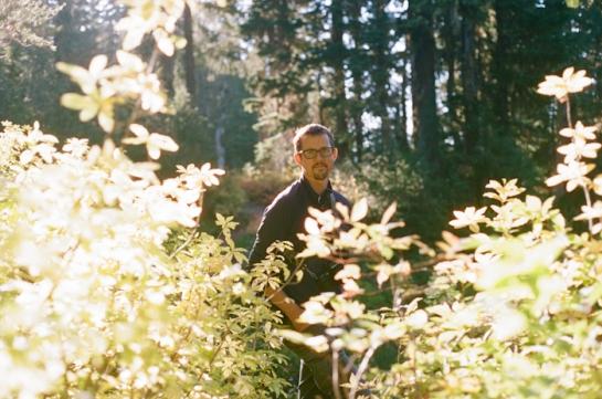 hiker in sunlight