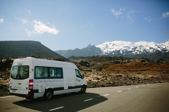 Camper Van in NZ landscape