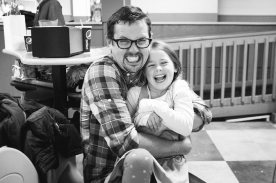 happy dad and daughter bowling portland oregon
