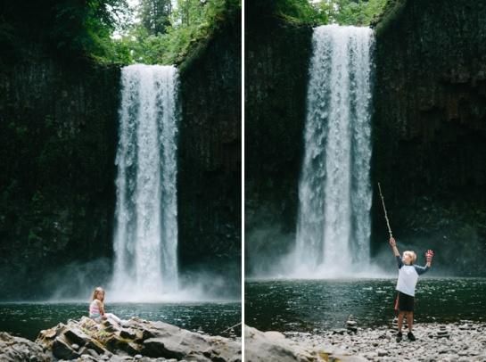 oregon waterfall with kids